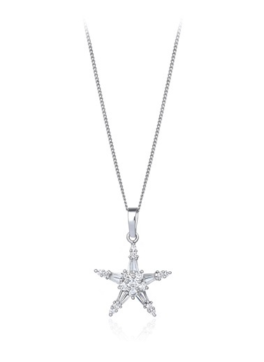 2,30 Ct Pırlanta Efekt Altın Uranos Kolye-Tophills Diamond Co.